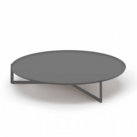 Round Outdoor Coffee Table in High Quality Metal Made in Italy - Stephane