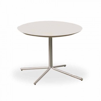 Round Coffee Table in White MDF of Modern Design 2 Sizes - Geone