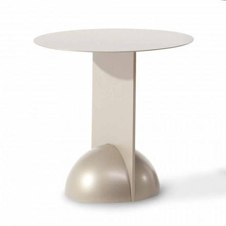 Round Design Metal Coffee Table Made in Italy - Bonaldo Combination