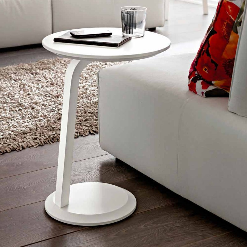 Coffee Table in Fenix with Solid Wood Structure Made in Italy - Tobiko
