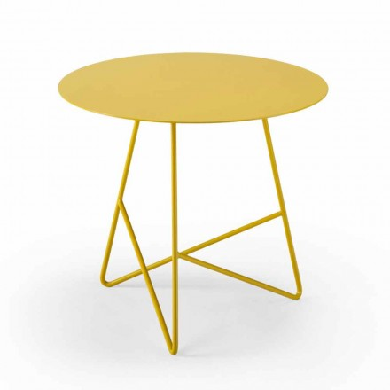 Round Garden Coffee Table in Metal in Various Colors and 3 Sizes - Magali