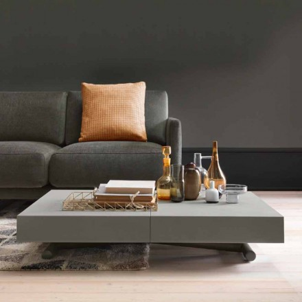 Modern Transforming Coffee Table with Malta Effect Top Made in Italy - Patroclo