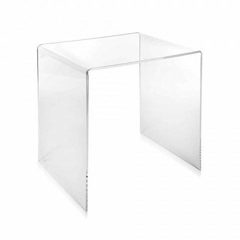 Contemporary design coffee table 40x40cm Terry Small, made in Italy