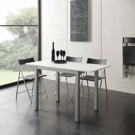 White modern design extendable table Gill