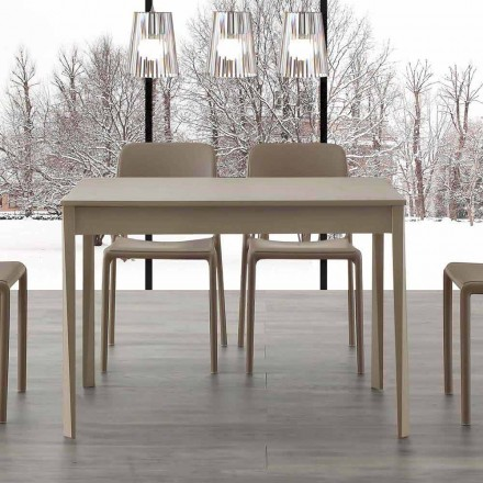 Modern design extendable table with legs in solid wood Empoli