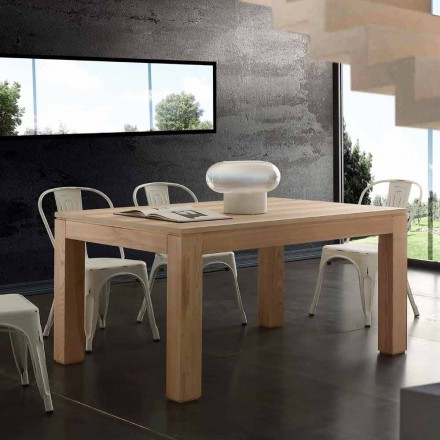 Extending dining table Indiana, with solid wood legs