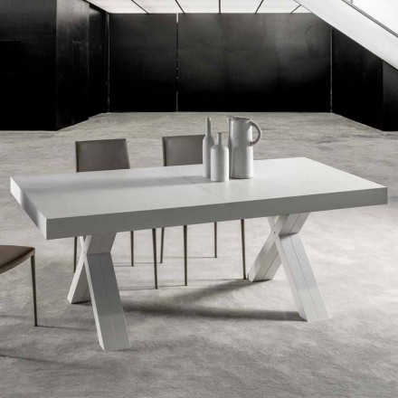 Extendable table with top in laminated wood – Atessa