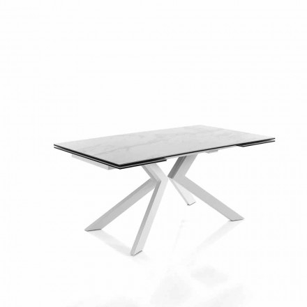 Modern kitchen extendable table in glass ceramic – Vinicio