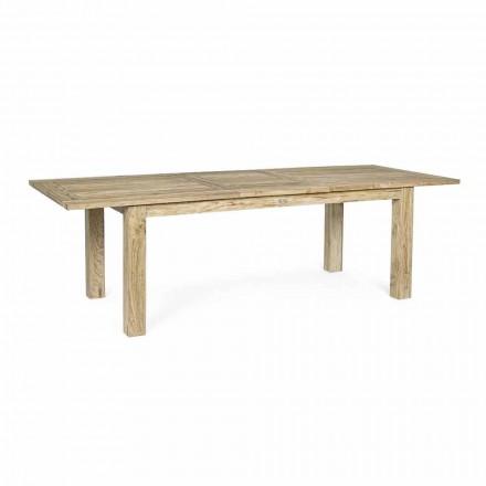 Extendable Garden Table to 260 cm in Wood, 8 Seats Homemotion - Gismondo