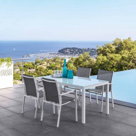 Extendable outdoor dining table Maiorca by Talenti, modern design