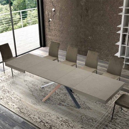 Extendable Dining Table in Modern Design Wood up to 3.1 m - Argentario