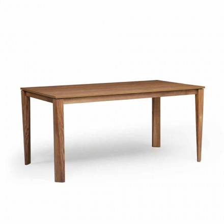 Design extendable table with ash wood base, made in Italy, Medicina