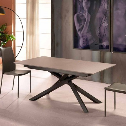 Extensible table of design with metal legs Lucera