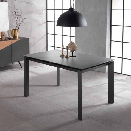 Extensible table of design with ceramic plan and mdf Nosate