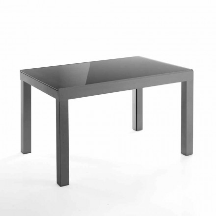 Design extendable table in glass and metal – Guerriero