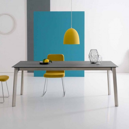 Design extendable table in aluminium, made in Italy – Arnara