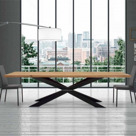 Extendable Table up to 14 Seats in Venereed Table Made in Italy – Grotta