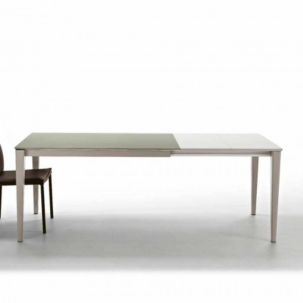 Modern extending dining table up to 210 cm made of glass-ceramic Five
