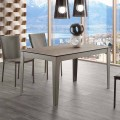 Extendable table up to 380 cm in vitro ceramic and metal Cagliari
