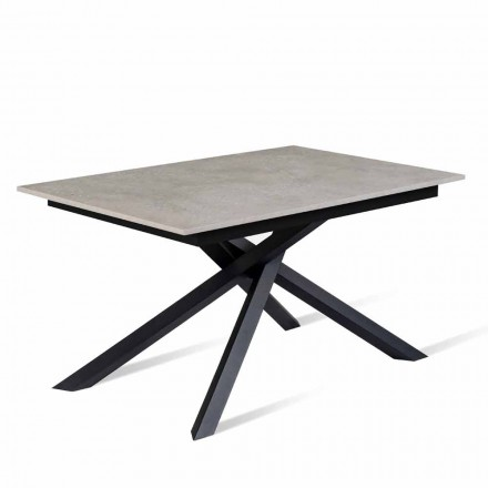 Extendable Table Up to 190 cm with Melamine Top Made in Italy - Elias