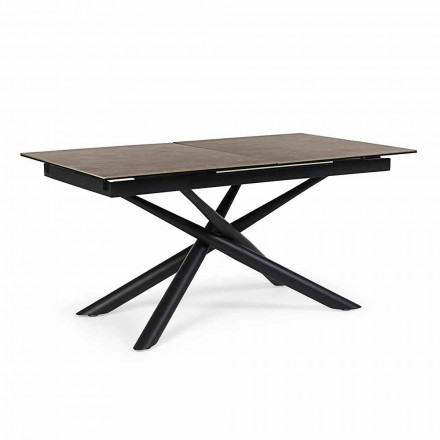 Extendable Table Up to 220 cm in Ceramic and Steel Homemotion - Brianza