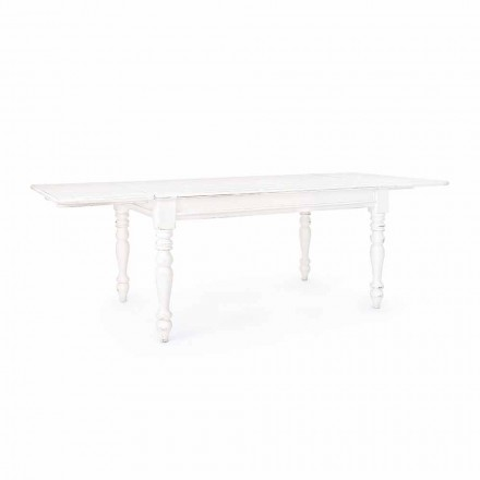 Classic Extendable Table Up to 240 cm in Mango Wood Homemotion - Tongo