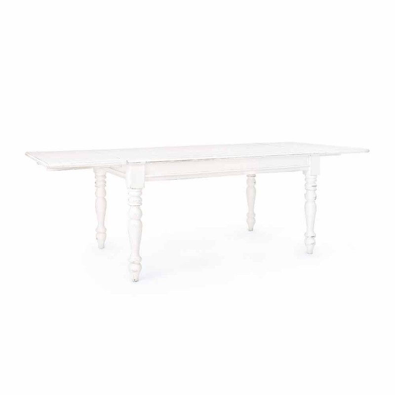 Extendable Table Up to 240 cm in Mango Wood and Mdf Homemotion - Tongo