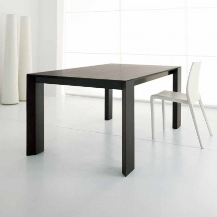 Extendable Table Up to 245 cm in Wengè Oak Wood by Design - Ipanemo