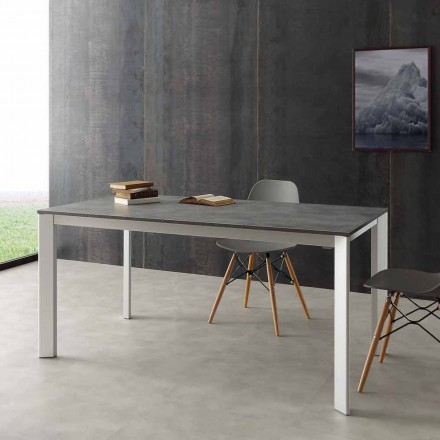 Extendable dining table Urbino, made of aluminium and Hpl