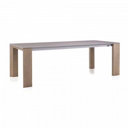 Extendable Table Up to 300 cm in Ceramic and Wooden Legs - Ipanemo