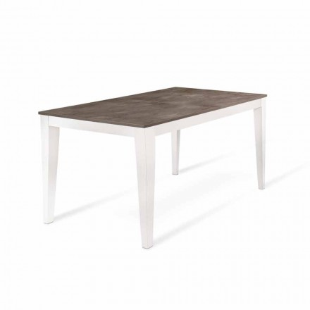 Extendable Table Up to 316 cm with Melamine Top Made in Italy - Orazio