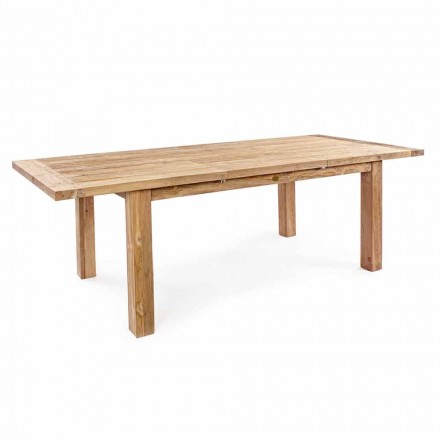 Homemotion - Hunter Teak Wood Extendable Garden Table Up to 250 cm