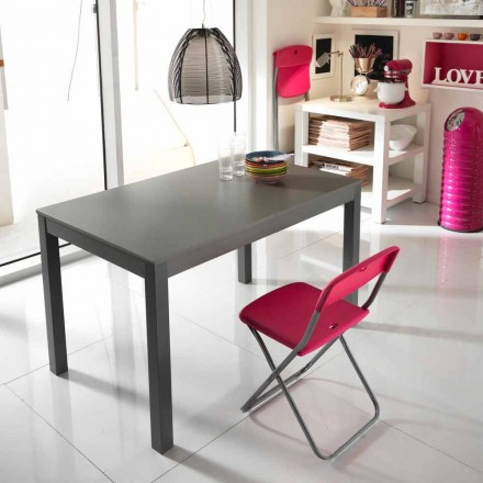 Beechwood extending dining table Tito, made in Italy