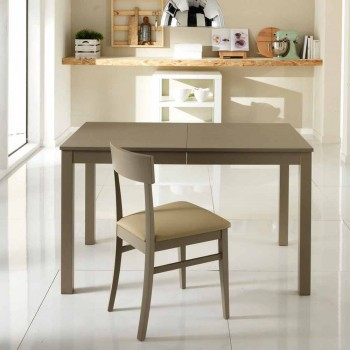 Extendable table in beech wood made in Italy Tito