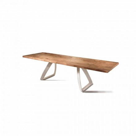 Extending table Paul, oak veener and metal, modern design