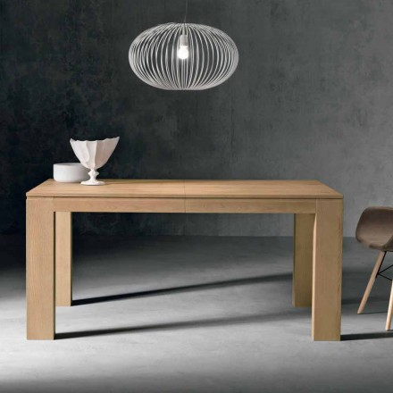Design extendable table in oak wood made in Italy, Sondrio