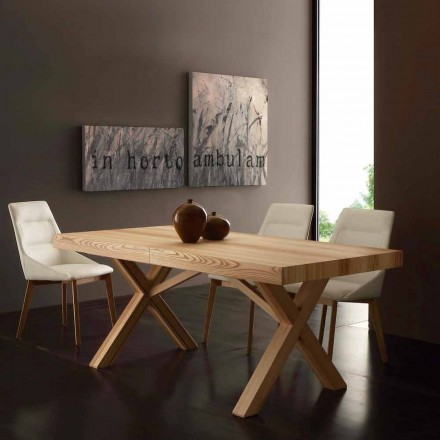 Extending table Texas, made of olive ash wood, modern design