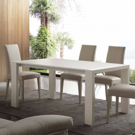 Extendable dining table Jesi, made of MDF