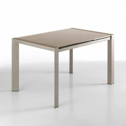 Modern design extendable table in glass – Tobias