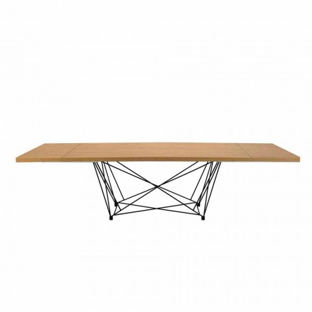 Modern Extendable Table 14 Seats with Laminated Top Made in Italy - Ezzellino