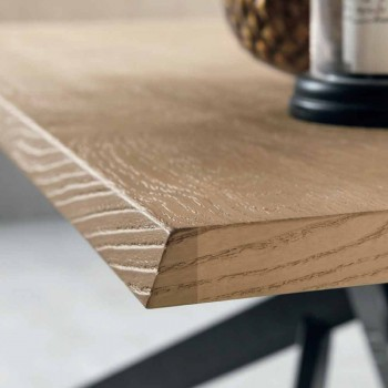 Modern Extendable Table in Oak Wood Made in Italy - Oncino