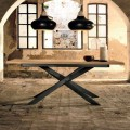 Design extendable table in oak wood made in Italy, Oncino