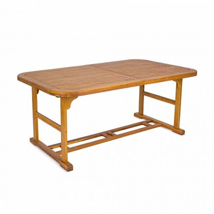 Extendable Table Up to 240 cm in Garden Wood, of Design - Roxen