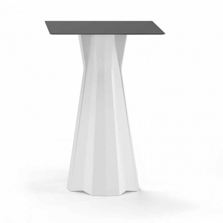 High Table with Hpl Top and Polyethylene Base Made in Italy - Tinuccia