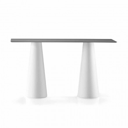 Outdoor High Table with Rectangular Top in Hpl Made in Italy - Forlina