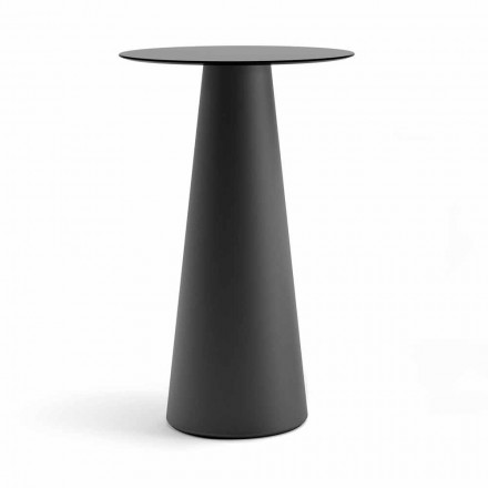 Outdoor High Table with Round Top in Hpl Made in Italy - Forlina