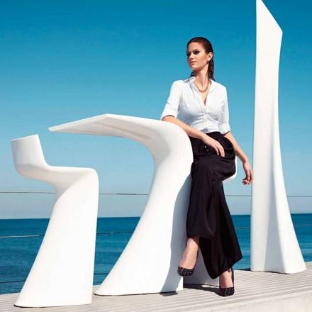 High outdoor table H 100 cm Wing Vondom, modern design in polyethylene