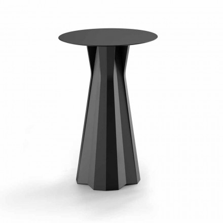 High Polyethylene Table with Round Hpl Top Made in Italy - Tinuccia