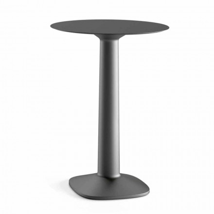 Round High Table in Polyethylene with Hpl Top Made in Italy - Pito