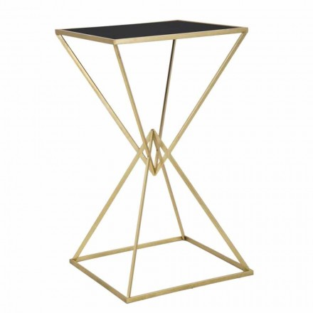Modern Design Square Bar Table in Iron and Glass - Hily
